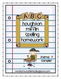 Houghton Mifflin Spelling Sampler-Theme 7