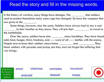 Houghton Mifflin The Ballad of Mulan Vocabulary Cloze