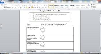 Houghton Mifflin Theme 2 Scale/Reflection