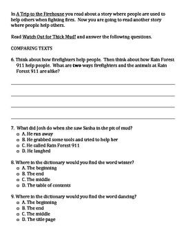 Houghton Mifflin Theme 3 Practice Test