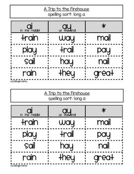 Houghton Mifflin Theme 3 Spelling Word Sorts