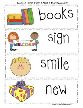 Houghton Mifflin First Grade Theme 4 Resource Pack