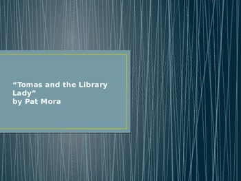 Houghton Mifflin Tomas and the Library Lady Vocabulary PowerPoint