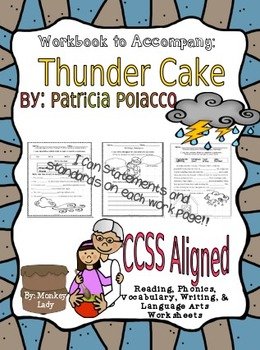 Houghton Mifflin's Thunder Cake Workbook