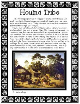 Houma Native American Tribe of Louisiana Informational Article