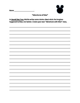 Hound Dog True: Adventures of Moe Writing Activty