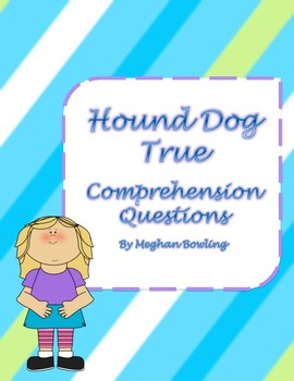 Dog border teaching resources teachers pay teachers hound dog true linda urban comprehension questions fandeluxe
