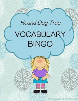 Hound Dog True Vocabulary Bingo