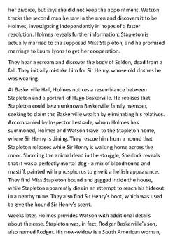 Hound of the Baskervilles Handout