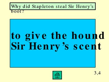 Hound of the Baskervilles Jeopardy