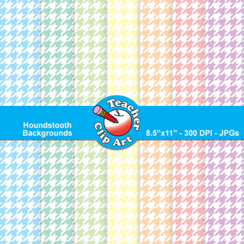 Houndstooth Backgrounds — Pastel Colors (9 Backgrounds)