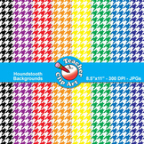 Houndstooth Backgrounds — Primary Colors (11 Backgrounds)