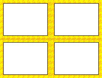 Blank Task Cards - Basics: Houndstooth | Editable PowerPoint