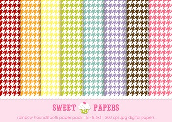Houndstooth Digital Paper Pack - by Sweet Papers