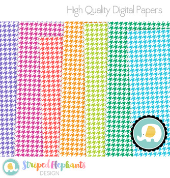 Houndstooth Digital Papers 1