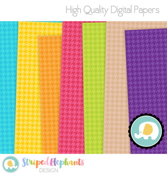 Houndstooth Digital Papers 2