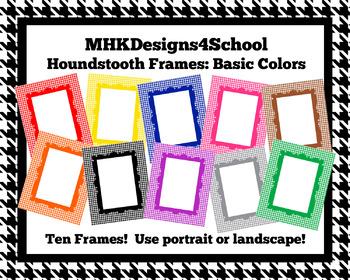 Houndstooth Frames: Basic Colors