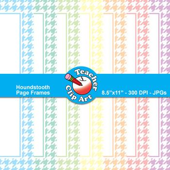 Houndstooth Page Frames — Pastel Colors (9 Frames)
