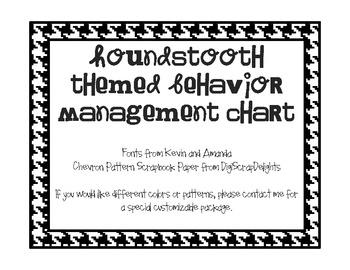 Houndstooth Themed Behavior Management Chart