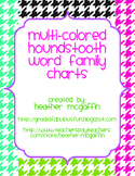 Houndstooth Word Family Charts