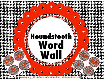 Houndstooth Word Wall Classroom Decor