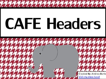 Houndstooth and Crimson CAFE Headers