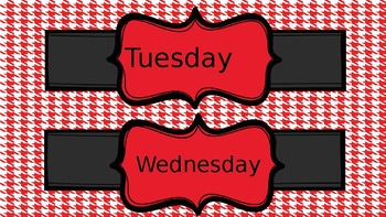 Houndstooth days of the week