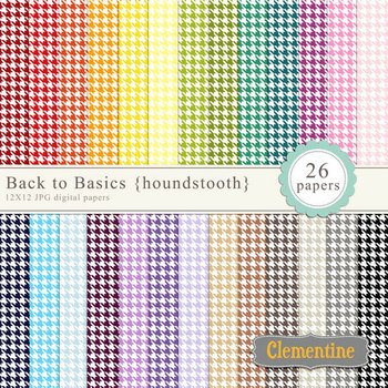 Houndstooth digital papers - rainbow papers