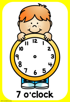 Clock Time Playdough Mats