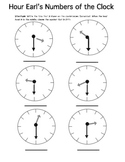 Hour Earl's Numbers of the Clock
