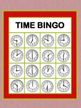 Time Bingo-Hour & Half Hour