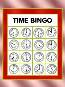 Time Bingo-Hour & Half Hour