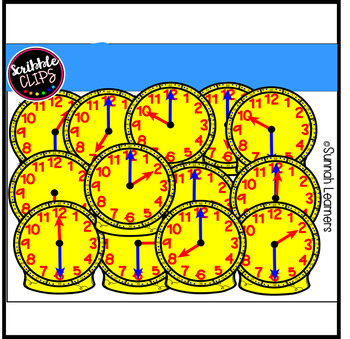 Hour & Half Hour Counting Clocks