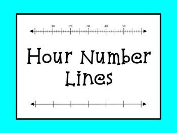 Hour Number Lines Clip Art