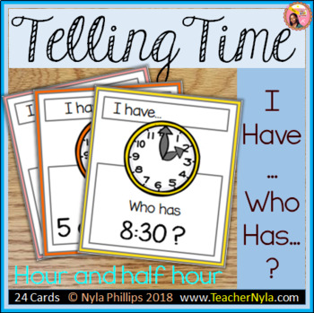 Hour and Half Hour - I Have Who Has - Game