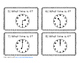 Telling Time to the Hour and Half Hour Task Cards (Scoot)