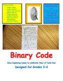 Coding Binary Code Computer Technology Literacy Easy Intro Lesson Plan Grade 2-6