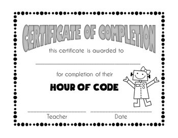 Hour of Code Certificates Freebie