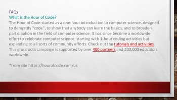 Hour of Code Coming       Computer Science Try Out Experience for Ages 6 to 106