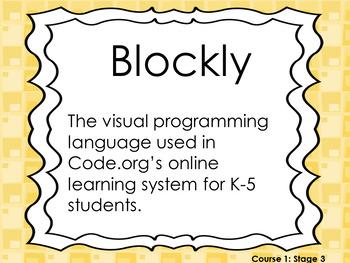 Hour of Code Course 1 Vocabulary Words