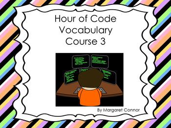 Hour of Code Course 3 Vocabulary Words