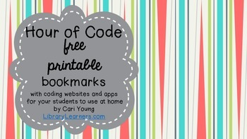 Hour of Code Free Printable Bookmarks