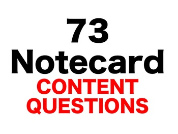 Hour of the Bees 73 Content Questions Whiteboard Game