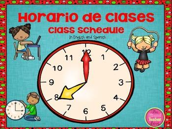 Hourly Schedule in Spanish