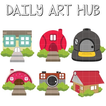 House Art - Great for Art Class Projects!