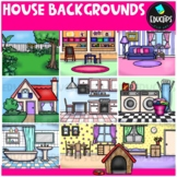 House Backgrounds Clip Art Bundle {Educlips Clipart}