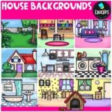 House Backgrounds Clip Art Bundle {Educlips Clipart}