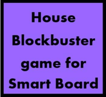 House Blockbuster game for Smartboard