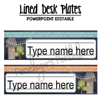 Desk Plates / Name Plates- House Chalkboard Theme