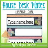 Desk Plates / Name Plates- House Chalkboard Theme